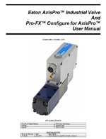 AxisPro Proportional Hydraulic Valve User Manual Thumbnail